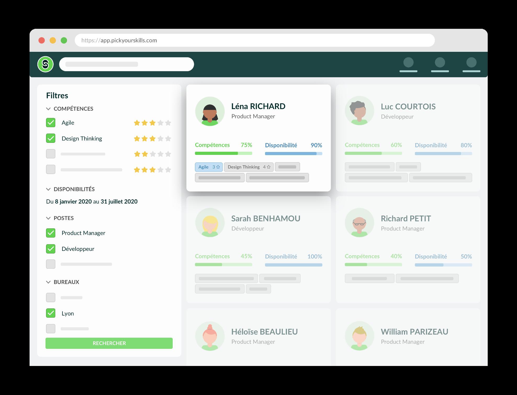 Identifiez en temps réel les profils les plus pertinents pour votre projet