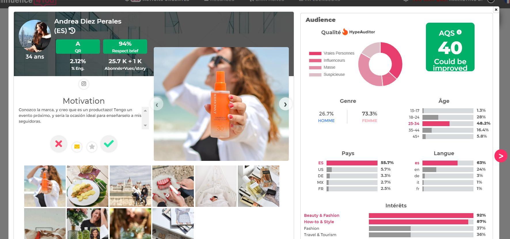 Avis Influence4You : La plateforme à + de 150K influenceurs et 37M de profils - Appvizer