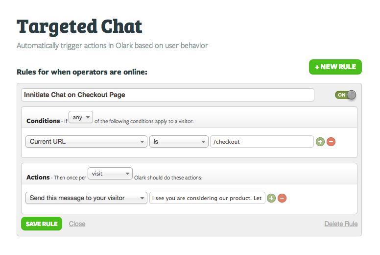 Olark: Suivi de la satisfaction client, Support (téléphone, email, ticket), Communauté (FAQ, Forum)