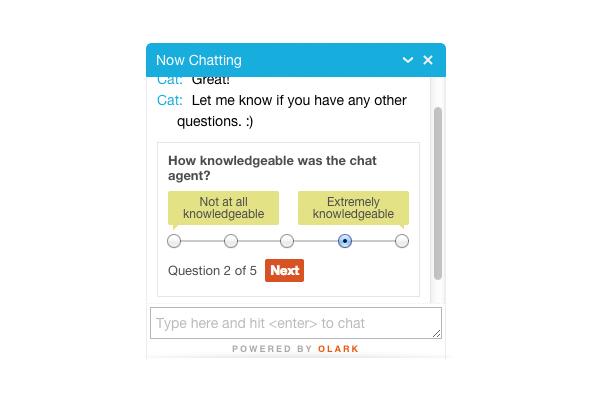 Olark: Support (téléphone, email, ticket), Chat en direct, Help Desk