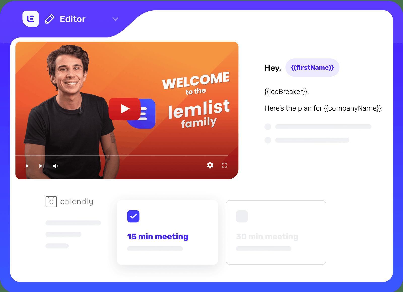 Landing page avec vidéo et Calendly.