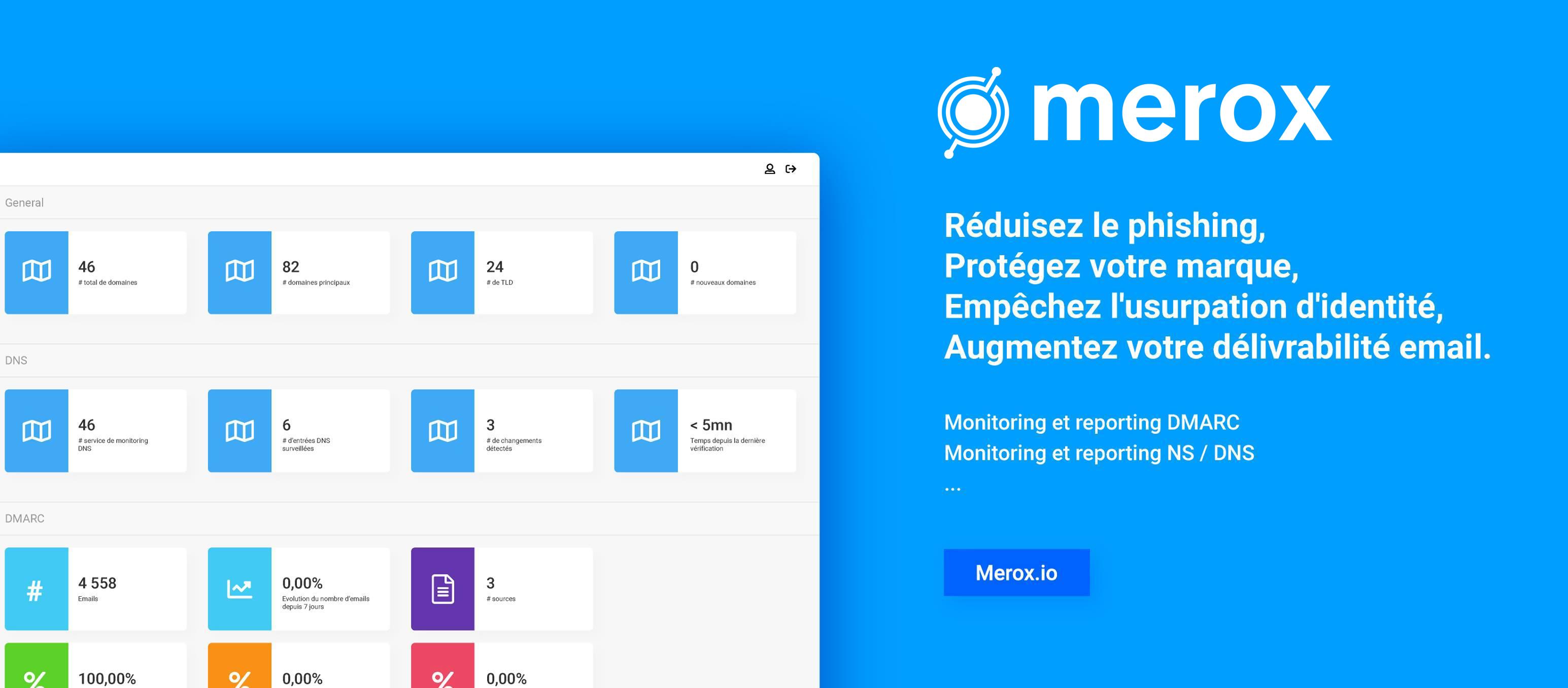 Avis Merox : Sécurisez votre marque et vos domaines de messagerie (DMARC) - Appvizer