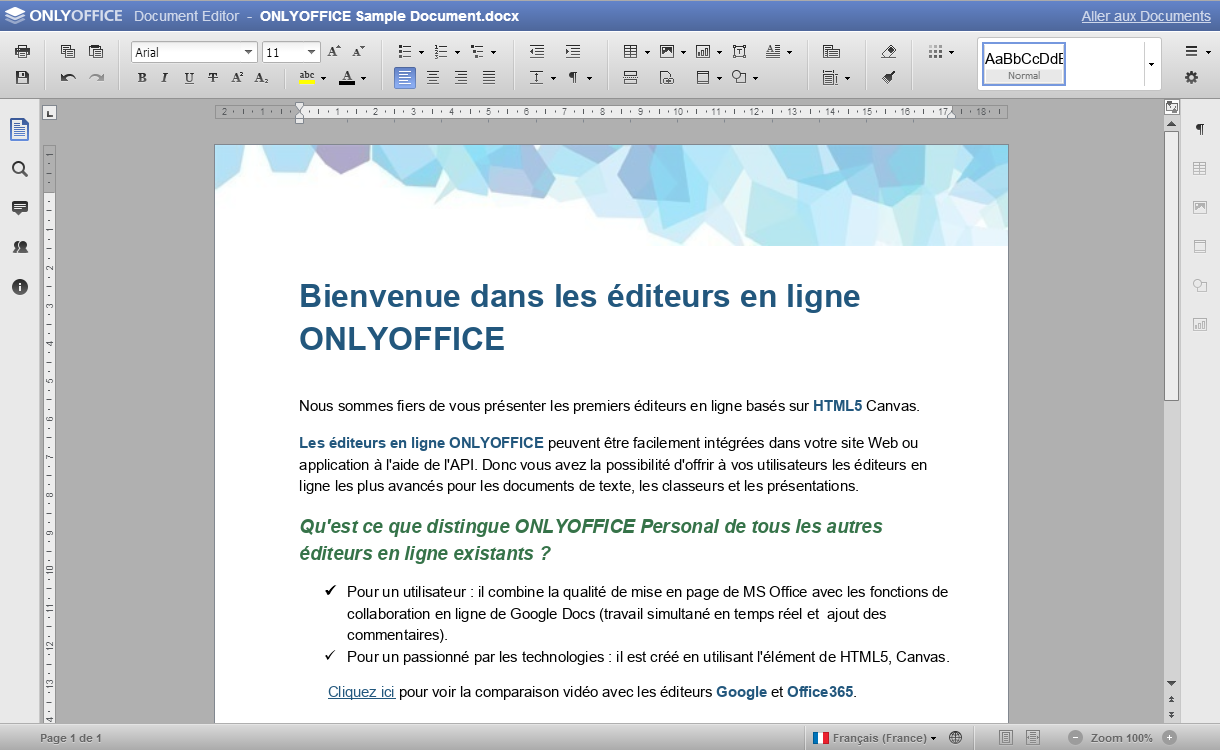 ONLYOFFICE: Portfolio de projet (PPM), Librairie de documents, Gestion de contacts