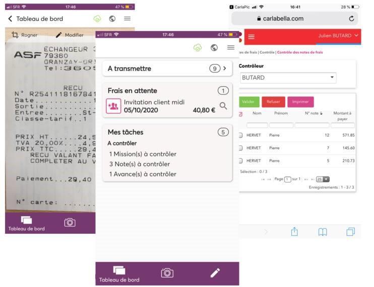 Présentation CarlaTravel et CarlaPic appli mobile