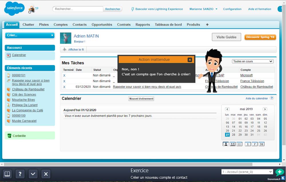 Créer un nouveau compte et contact dans Salesforce