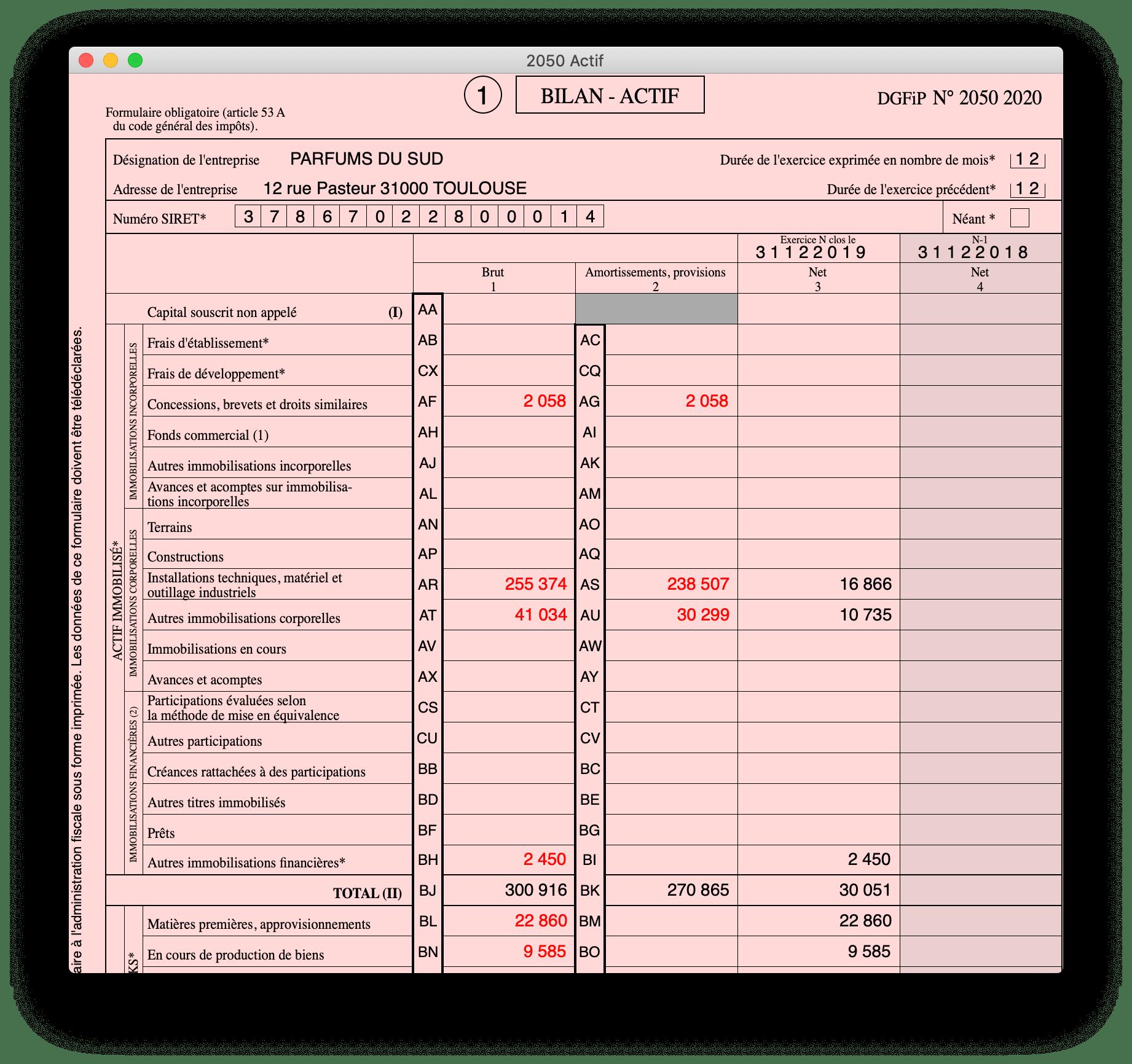 BIC - Régime Normal