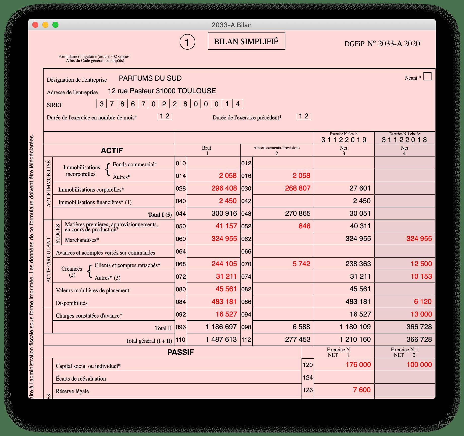 BIC - Régime Simplifié