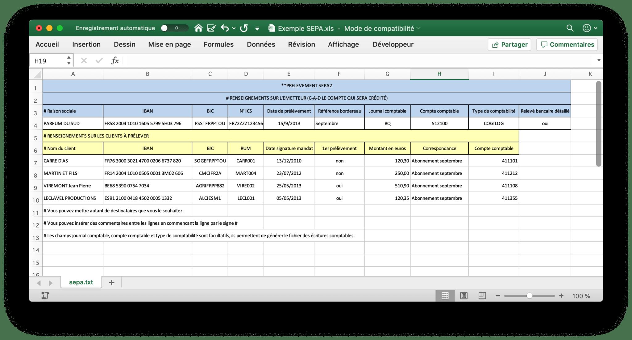 Saisie Excel