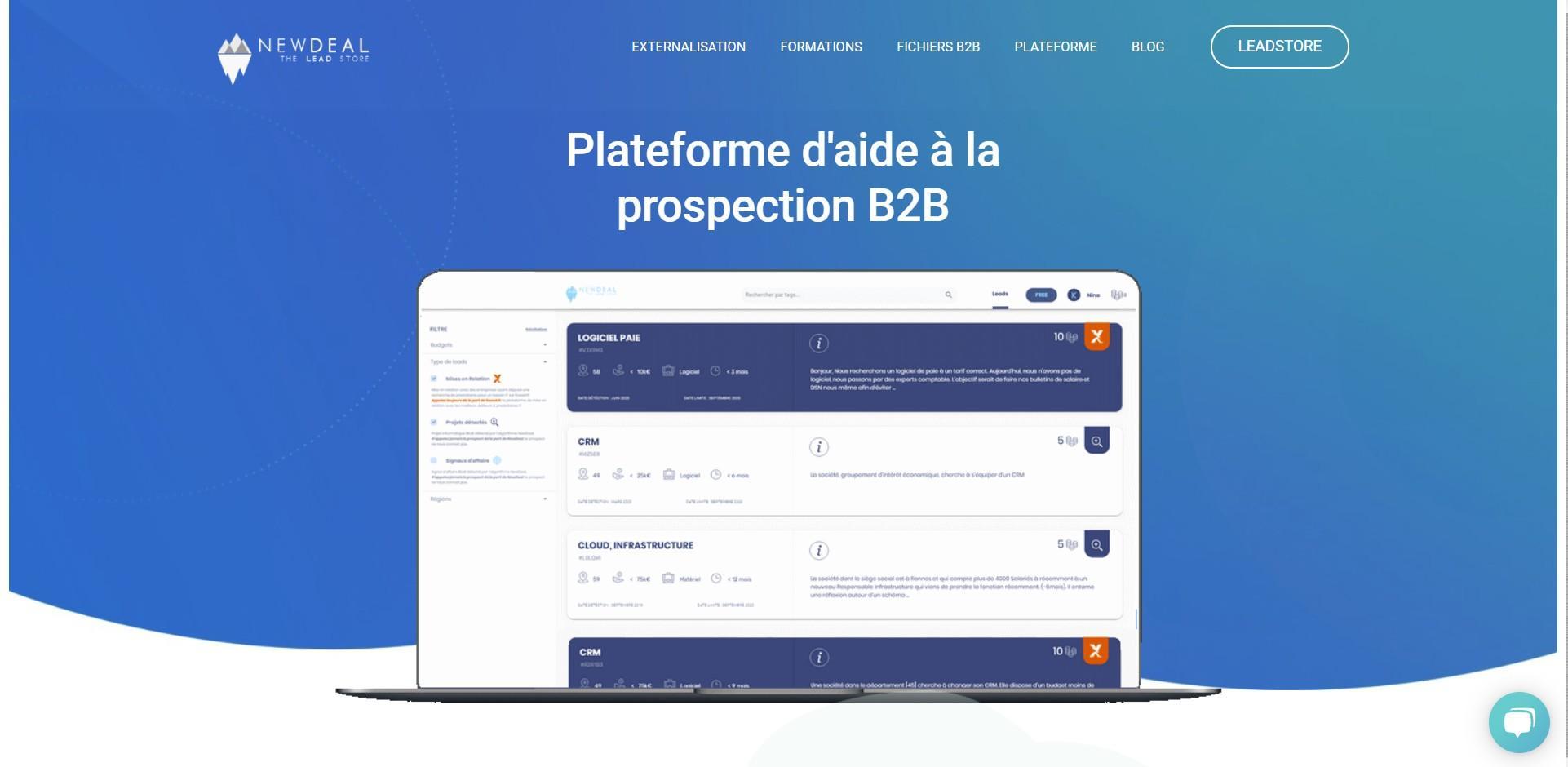 newdealtheleadstore.com - - plateforme d'aide à la prospection - spécialiste de la détection de projet informatique B2B