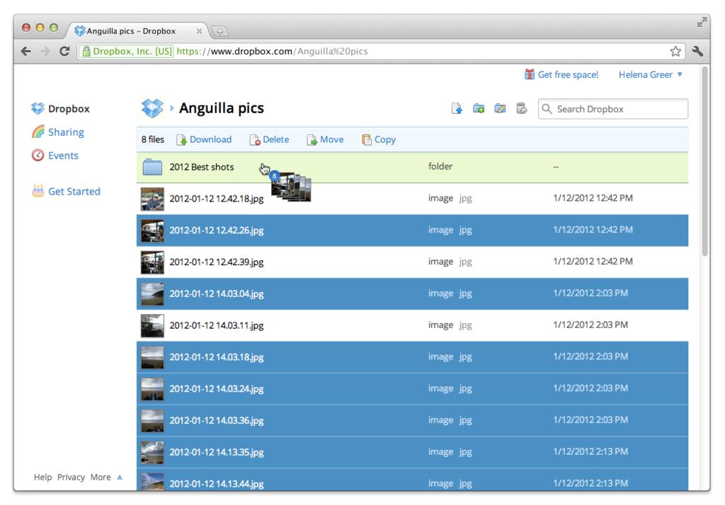 DropBox: Interface web adaptive, Librairie de documents, Horodateur de documents
