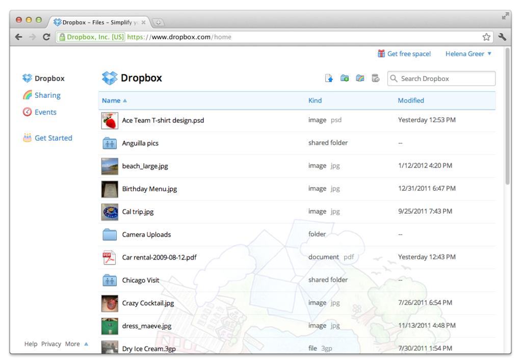 DropBox: Synchronisation de documents, Contrôle strict des accès aux serveurs, Sauvegarde quotidienne