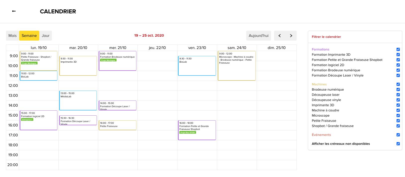 Planifiez et centralisez automatiquement toutes vos activités dans un seul agenda. Retrouvez-les en un clin d'œil grâce à une typologie colorée.