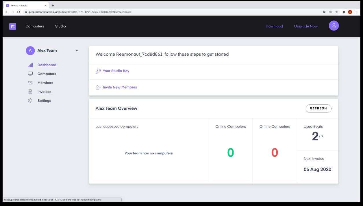 Interface de gestion des droits et accès utilisateurs