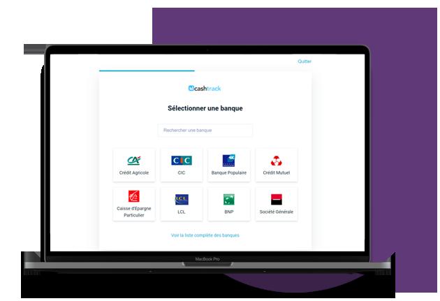 Cashtrack est connecté à 350 banques partenaires et est soumis aux mêmes législations
