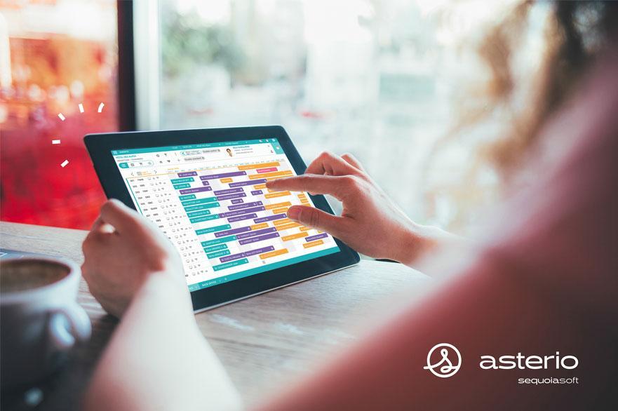 Avec Asterio votre planning est  aussi disponible sur tablette