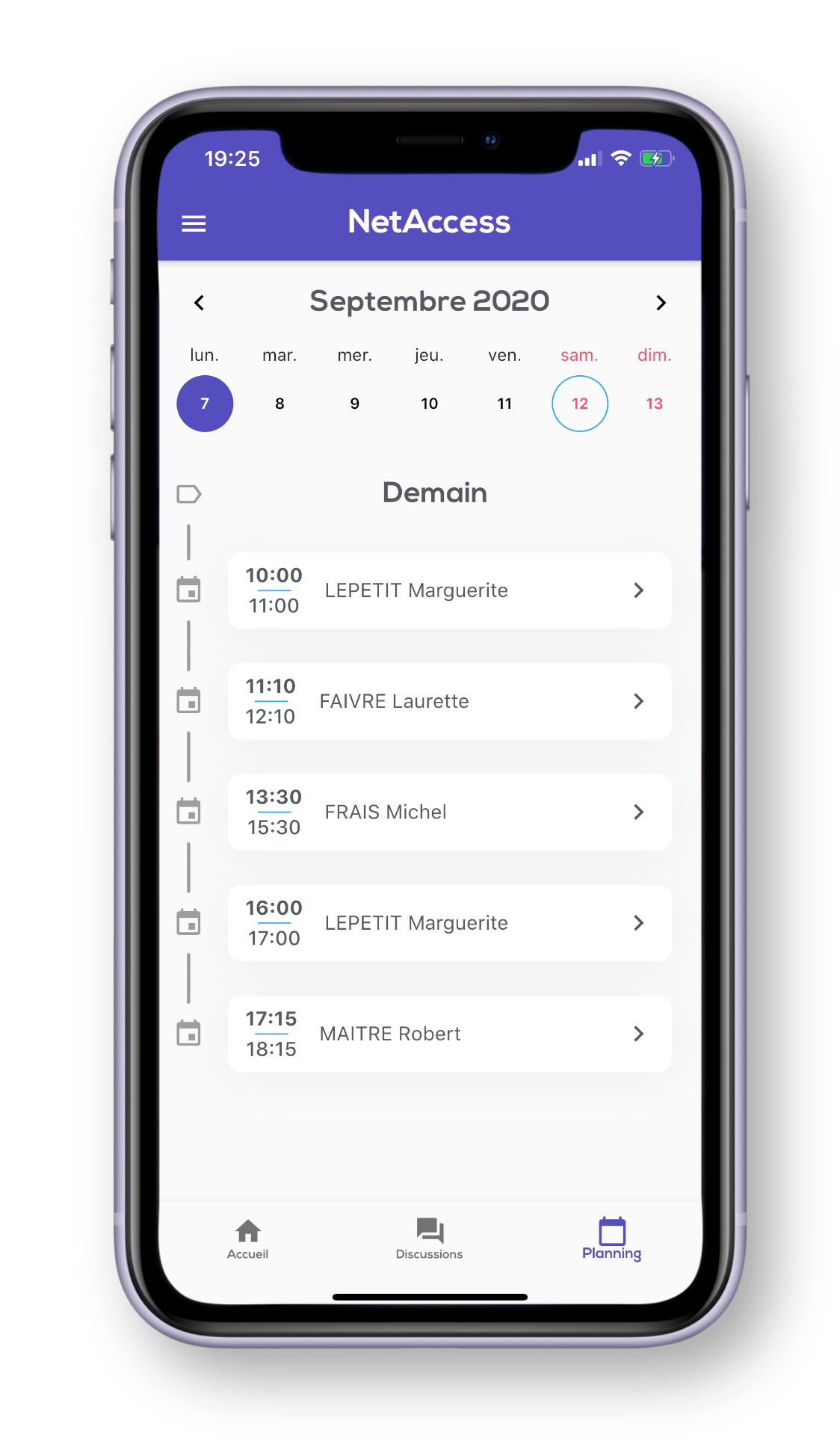 Application mobile - Planning