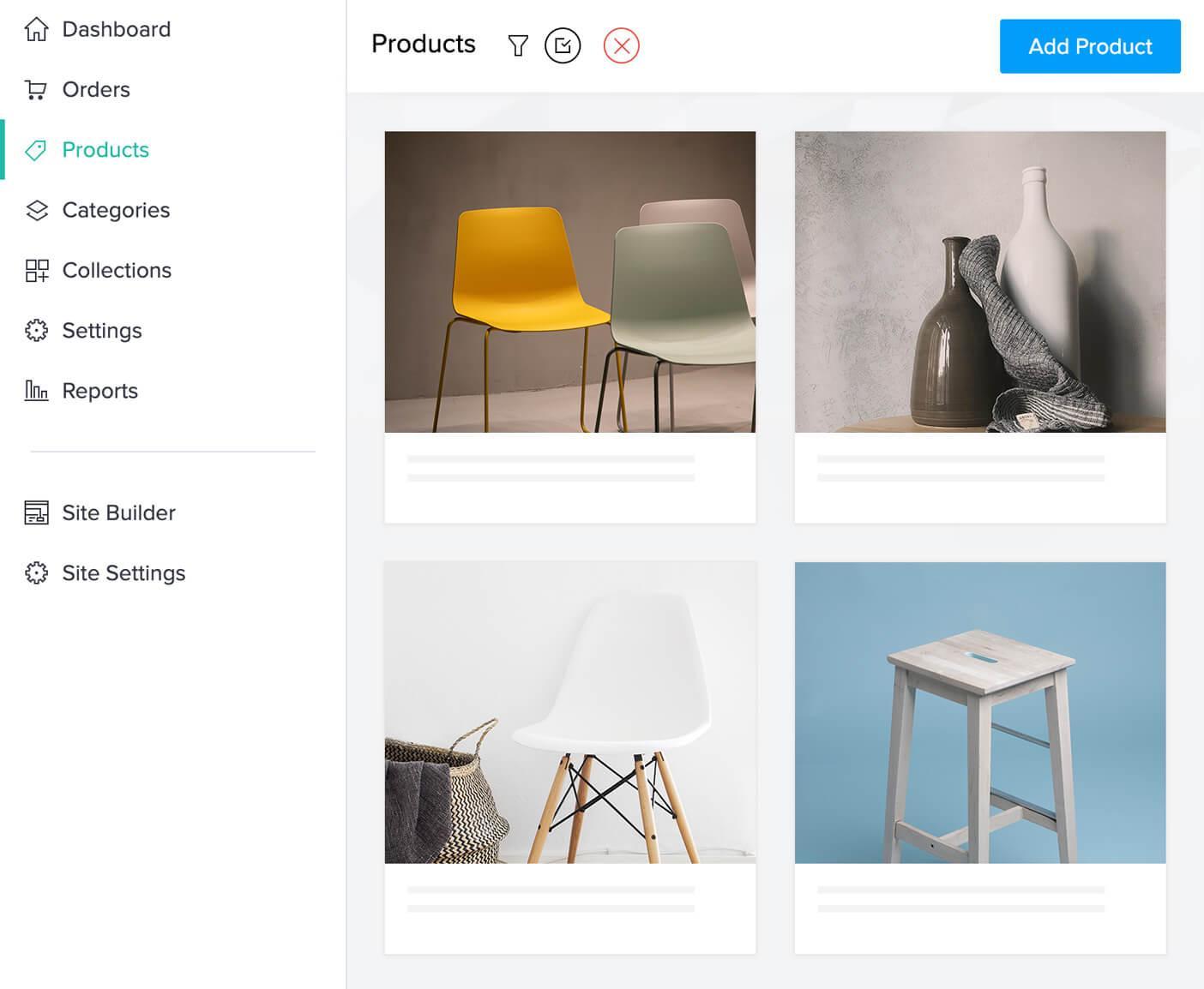 Zoho Commerce-productmanage