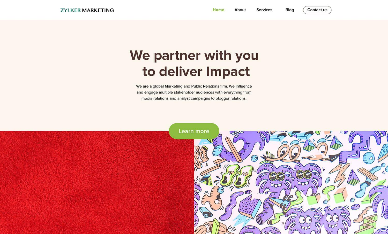 Zoho Sites-sites-customize
