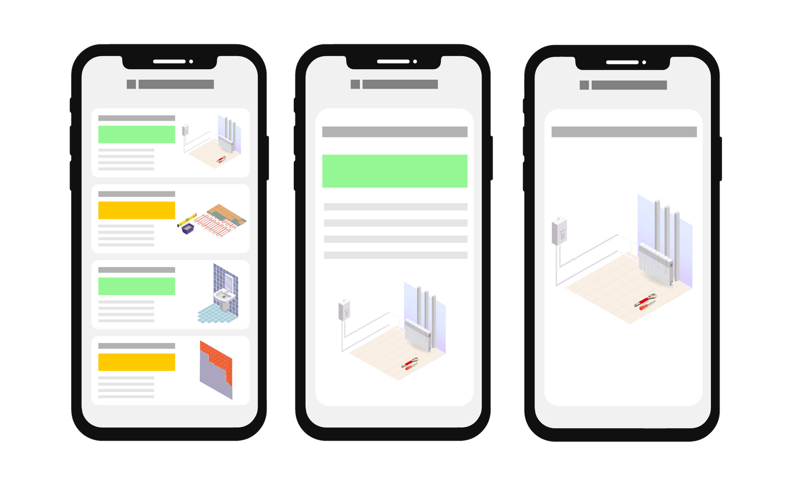 Application mobile native avec mode hors ligne