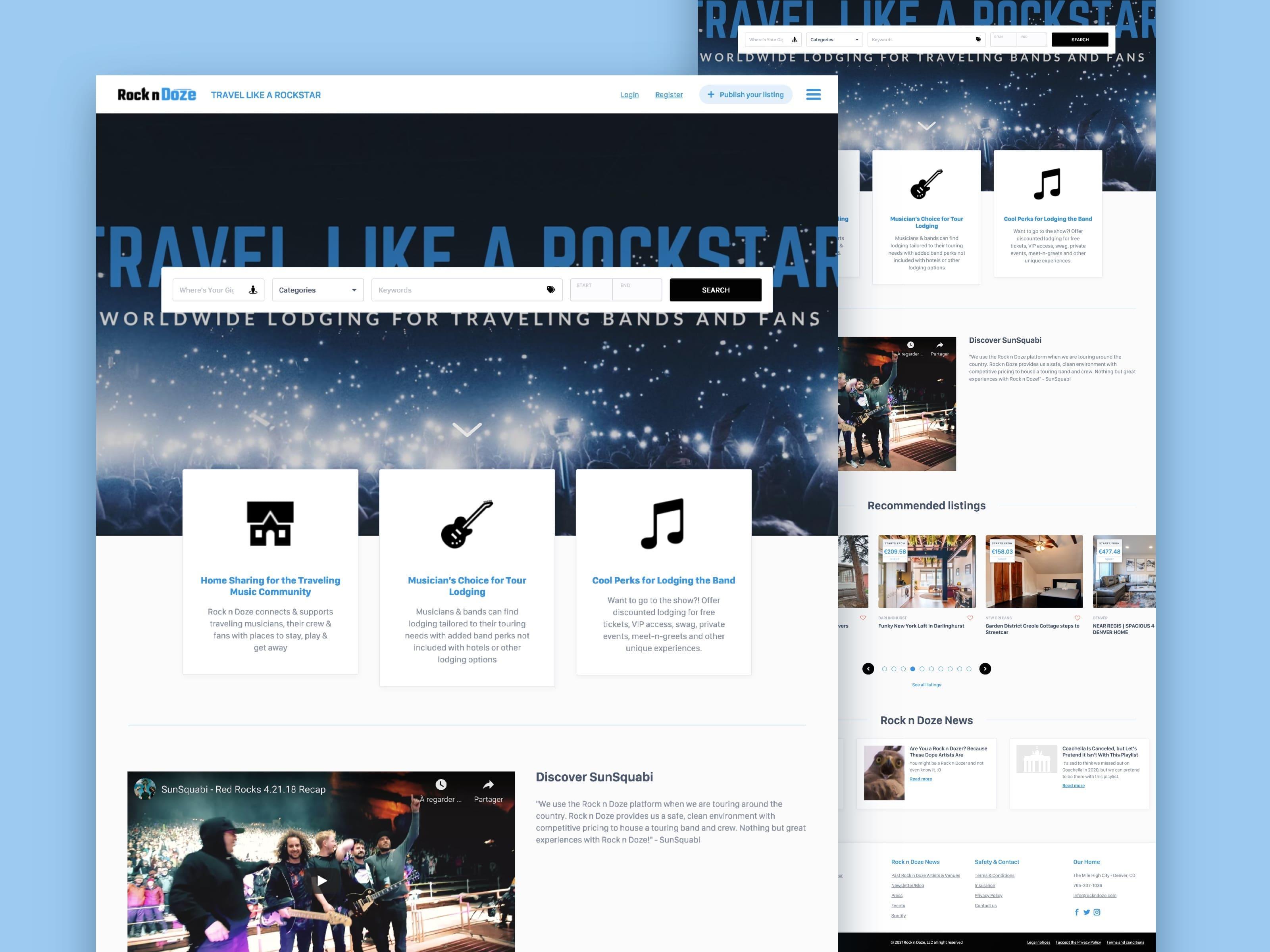 Rock'n'Doze : Travel like a rockstar