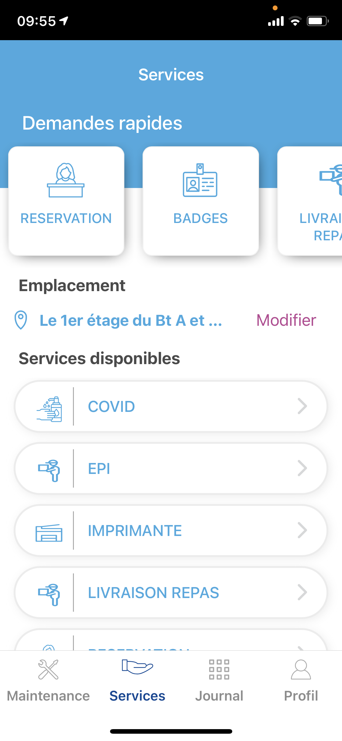 Smart'Request - application mobile du demandeur