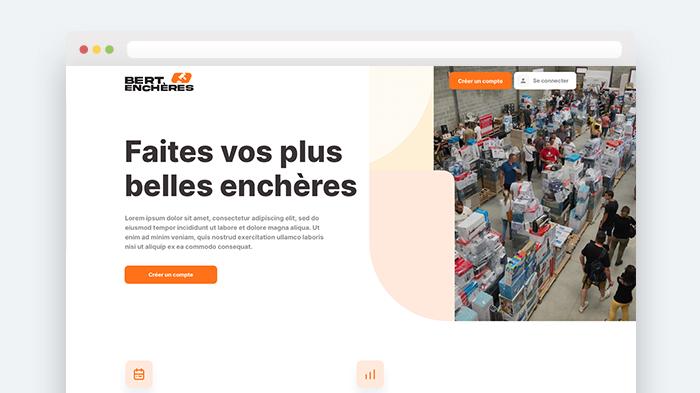 Bert Enchères - Marketplace B2C