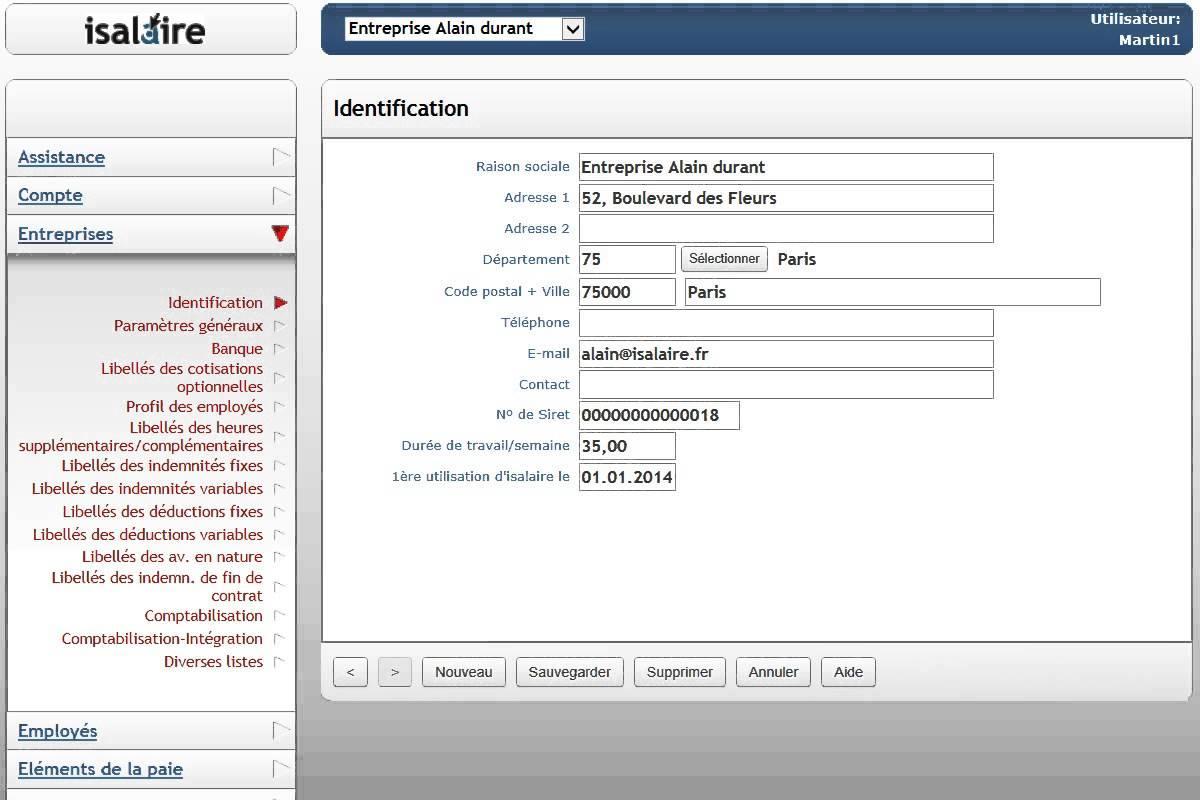 isalaire: Support (téléphone, email, ticket), Gestion des déclarations sociales, Génération des écritures comptables