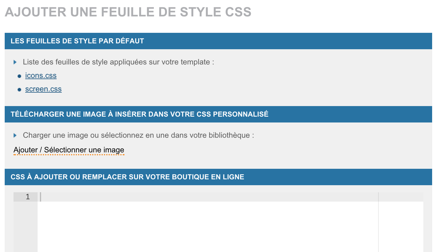 WiziShop: Menus et navigation, Google Analytics, Edition du code HTML