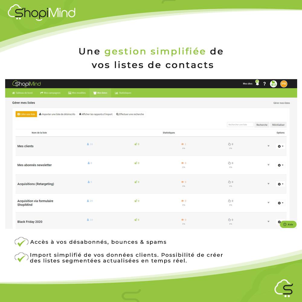 Gestion simplifiée de vos listes de contacts