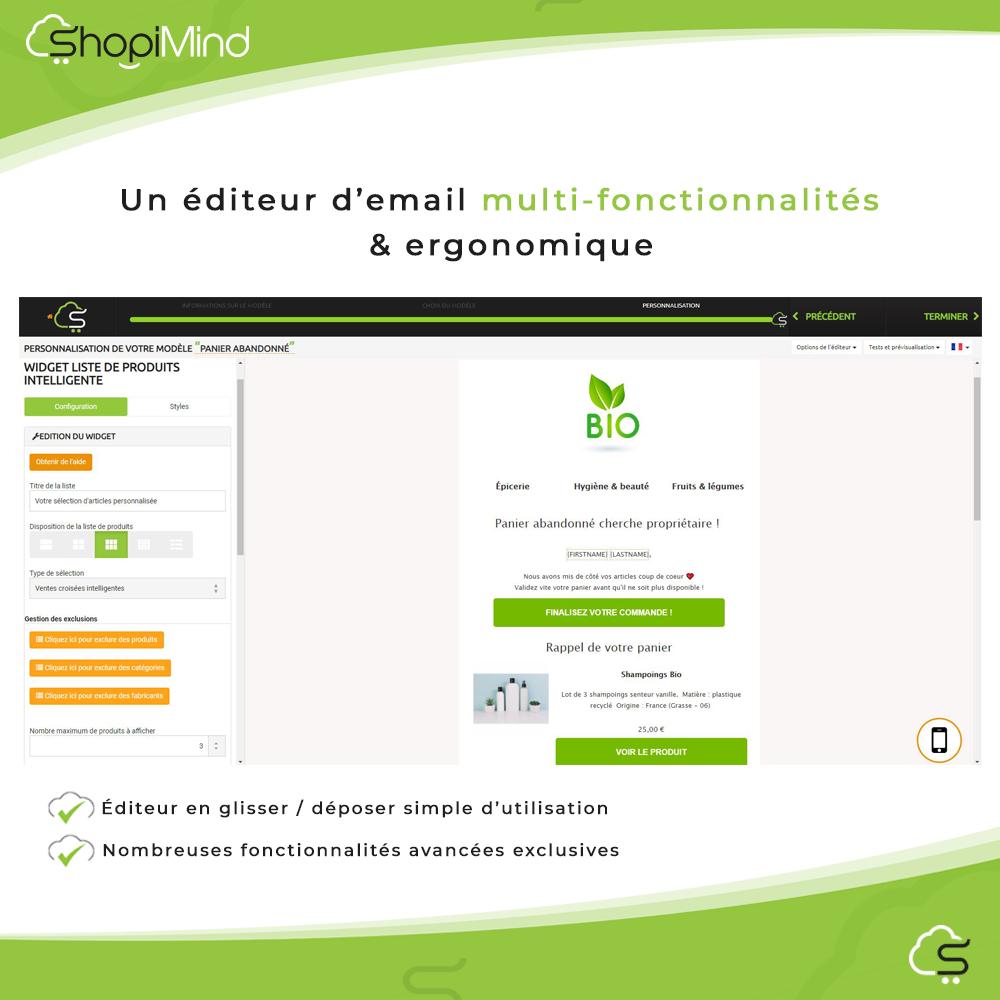 Un éditeur d'email multi-fonctionnalités & ergonomique