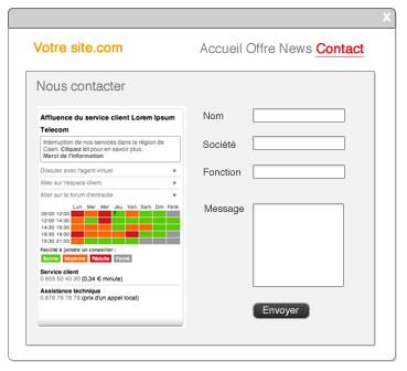 Turba: Help Desk, Tableau de bord du support client, Heures d'ouverture du support