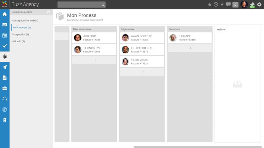 Nelis: Gestion des solutions, Messagerie instantanée (Chat), Tâches et notes