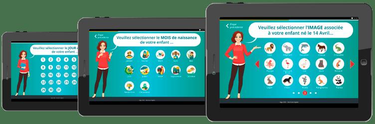 Application mobile de pointage des présences des enfants par les familles à leur arrivée/départ