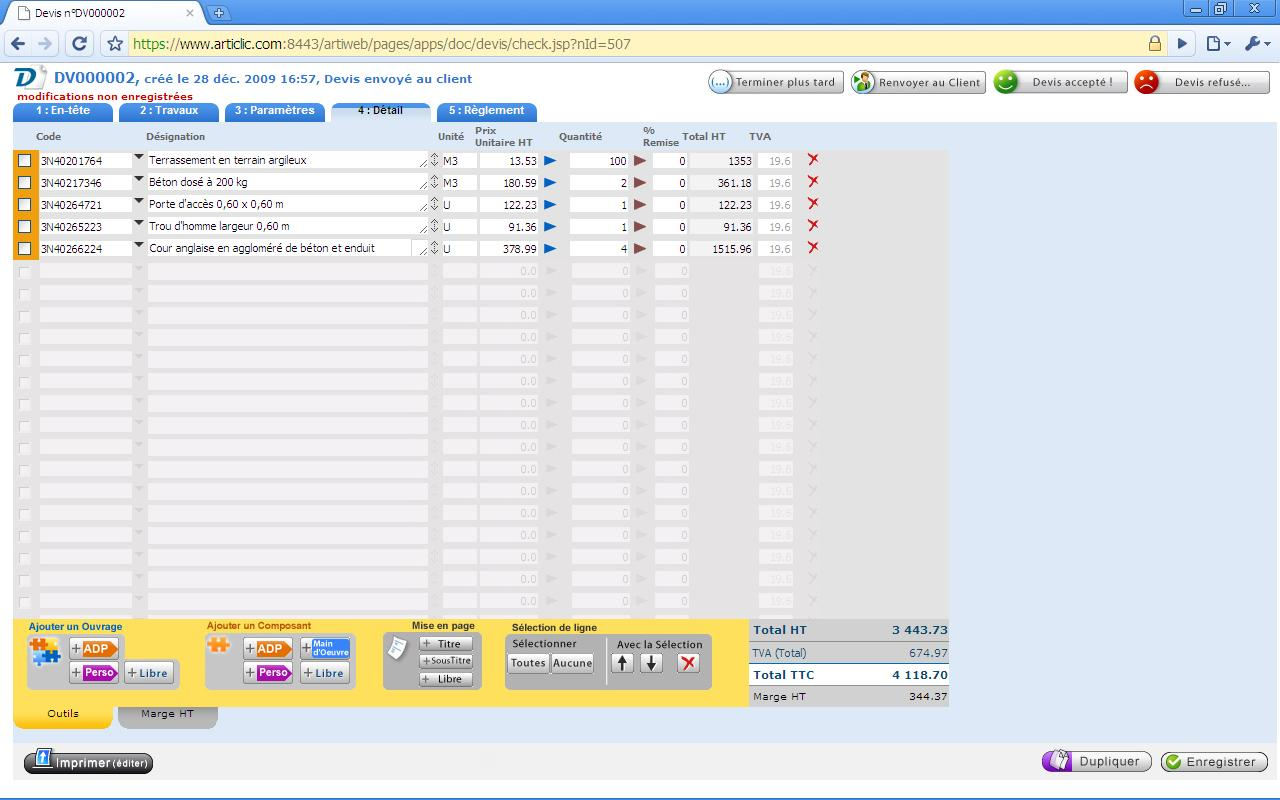Articlic: Export comptable, Conversion de devis en facture, Interface web adaptive