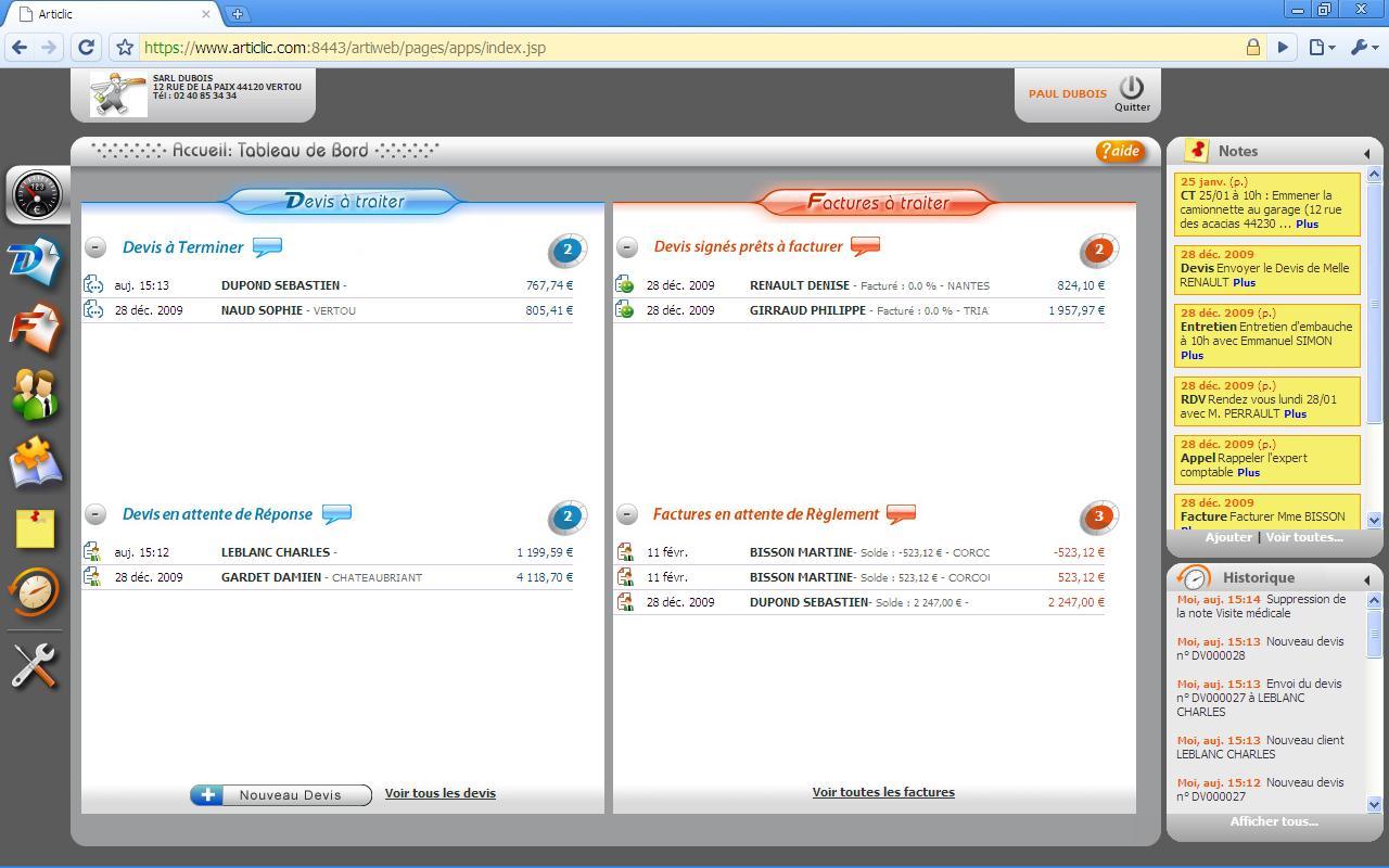 Articlic: Export comptable, Gestion automatique de la TVA, Redondance géographique des données
