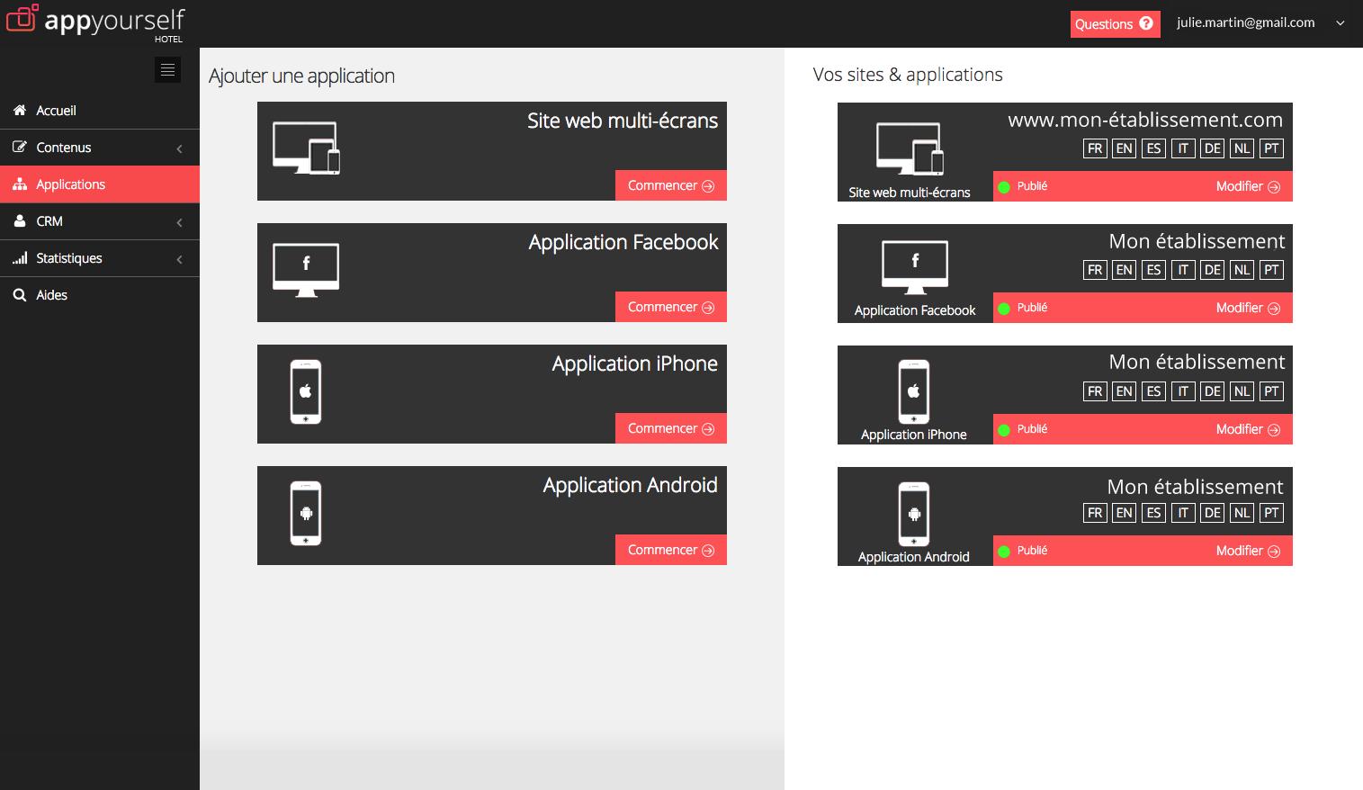 appyourself: Site multilingue, Blog et articles, Mode déconnecté