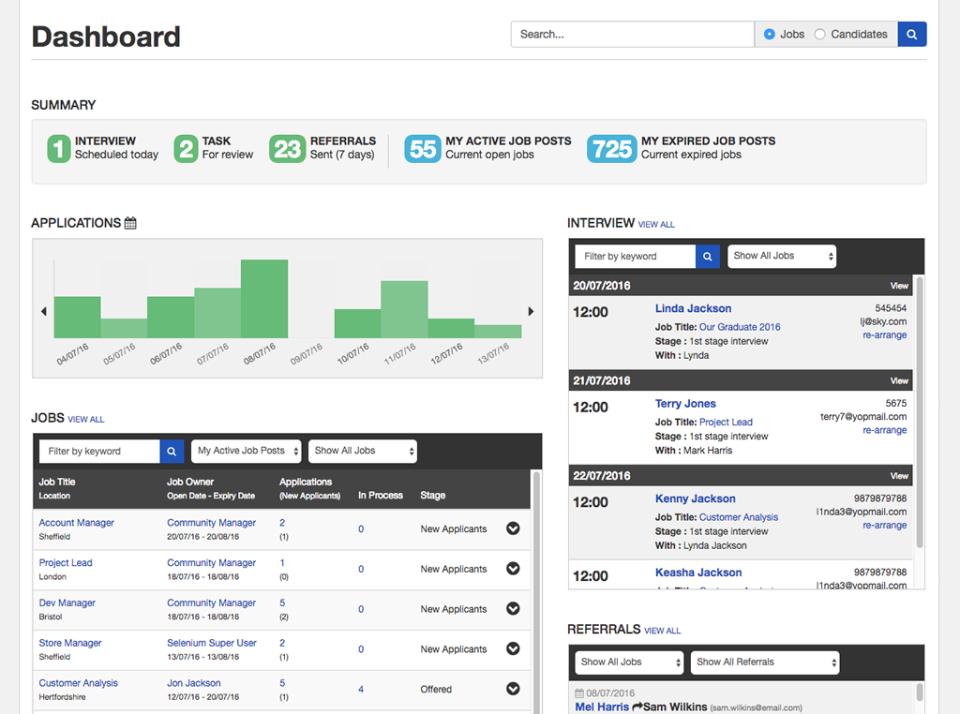 Applicant Tracking Software-screenshot-1