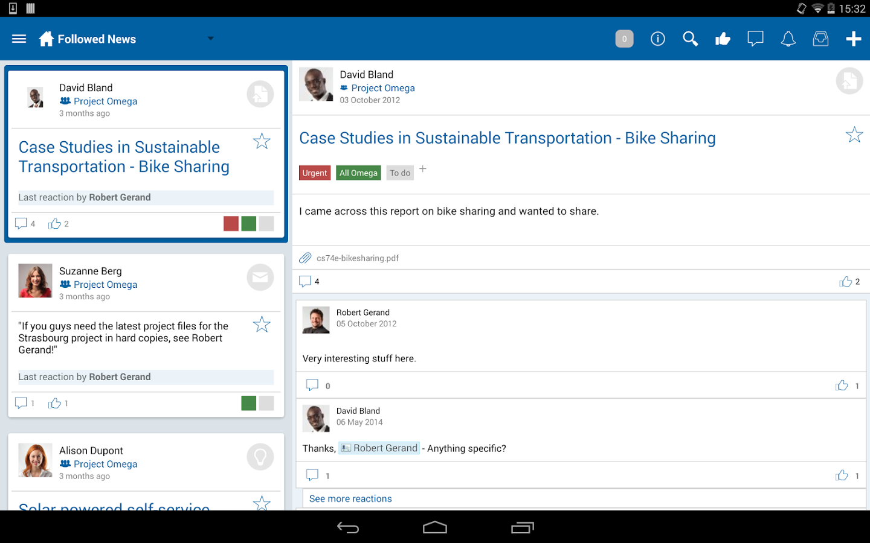 BlueKiwi: Gestionnaire de contacts, Planification d'événements, Conversations et posts