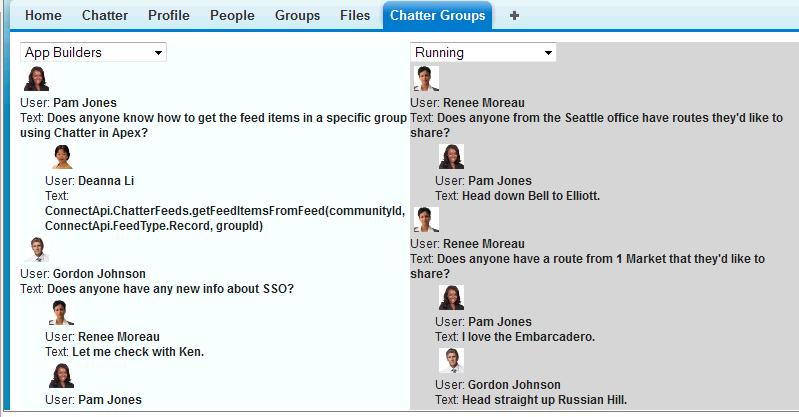 Chatter: API, Web service, Standard d'encodage avancé (AES), Publication et partage de contenu