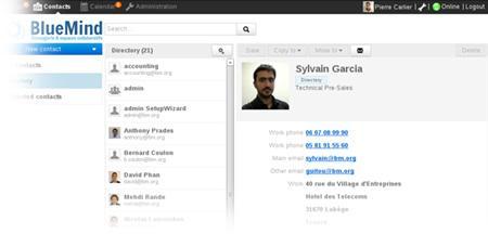 BlueMind: API, Web service, Gestion des droits, Gestionnaire de tâches