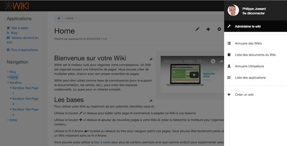 XWIKI-interface