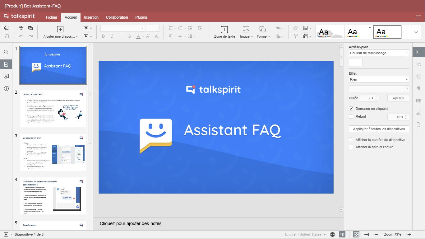 OfficeNow : créez, co-éditez et sauvegardez des feuilles de calcul, documents et diapositives, depuis votre plateforme Talkspirit.