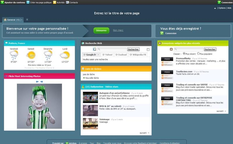 Netvibes: Notifications, Mise en page et thèmes, Monitoring de l'activité