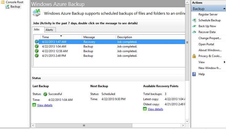 Microsoft Azure Backup: Standard d'encodage avancé (AES), Base de savoir (tutoriels, démos), Assurance contre les pertes de données