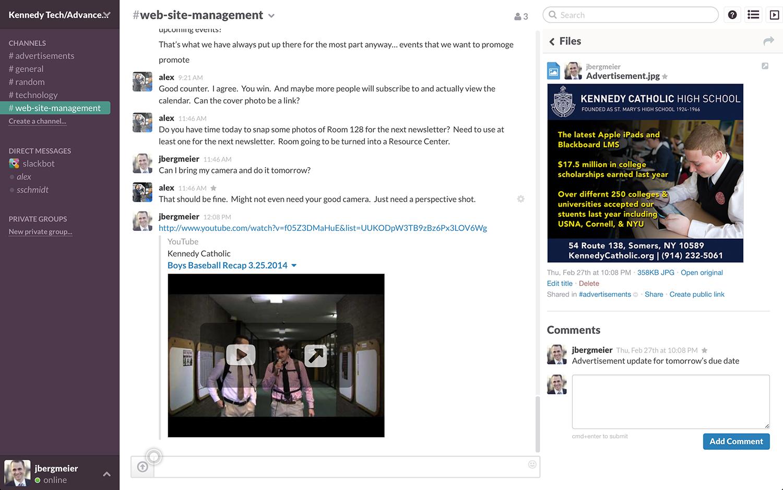 Slack: Contacts partagés, Notifications, Intégration aux réseaux sociaux