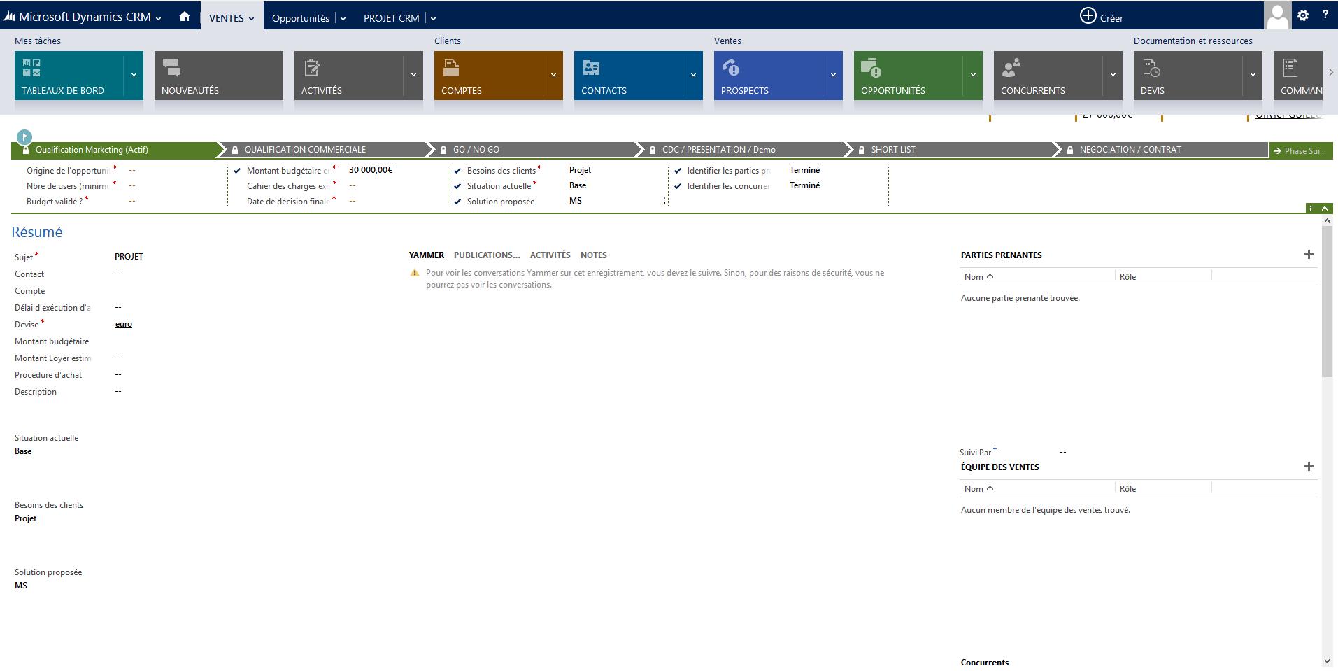 Microsoft Dynamics CRM: Contrat de niveau de service (SLA), Téléphone fixe, Application mobile