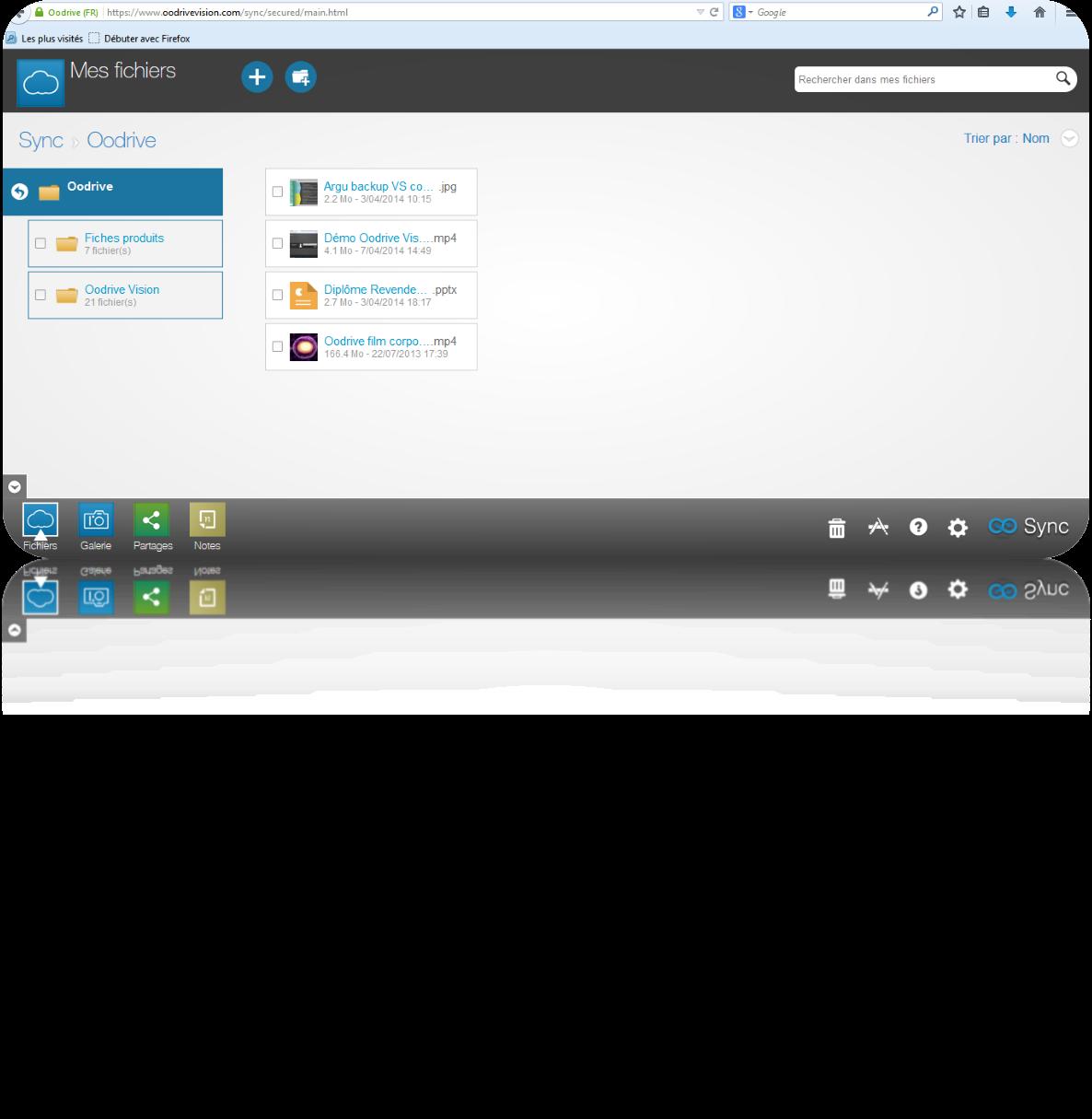 Oodrive Sync: Communauté (FAQ, Forum), Envoi de documents par liens hypertexte, API, Web service