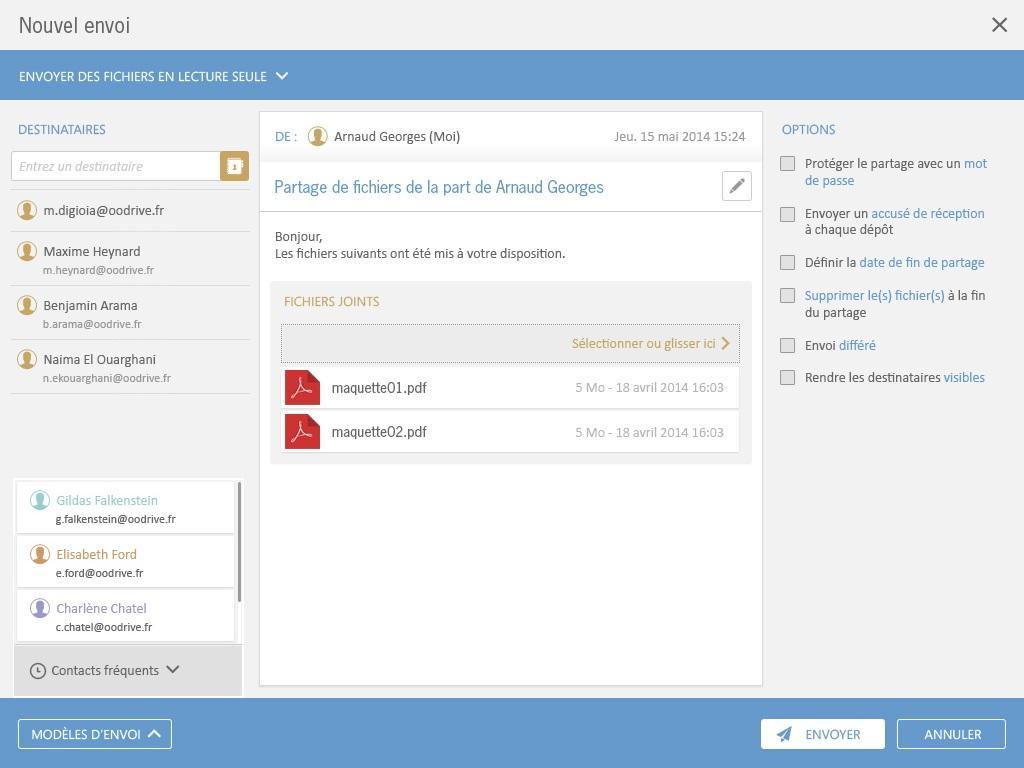 Oodrive_share : Assistance 24/7, Synchronisation de documents, Sauvegarde quotidienne