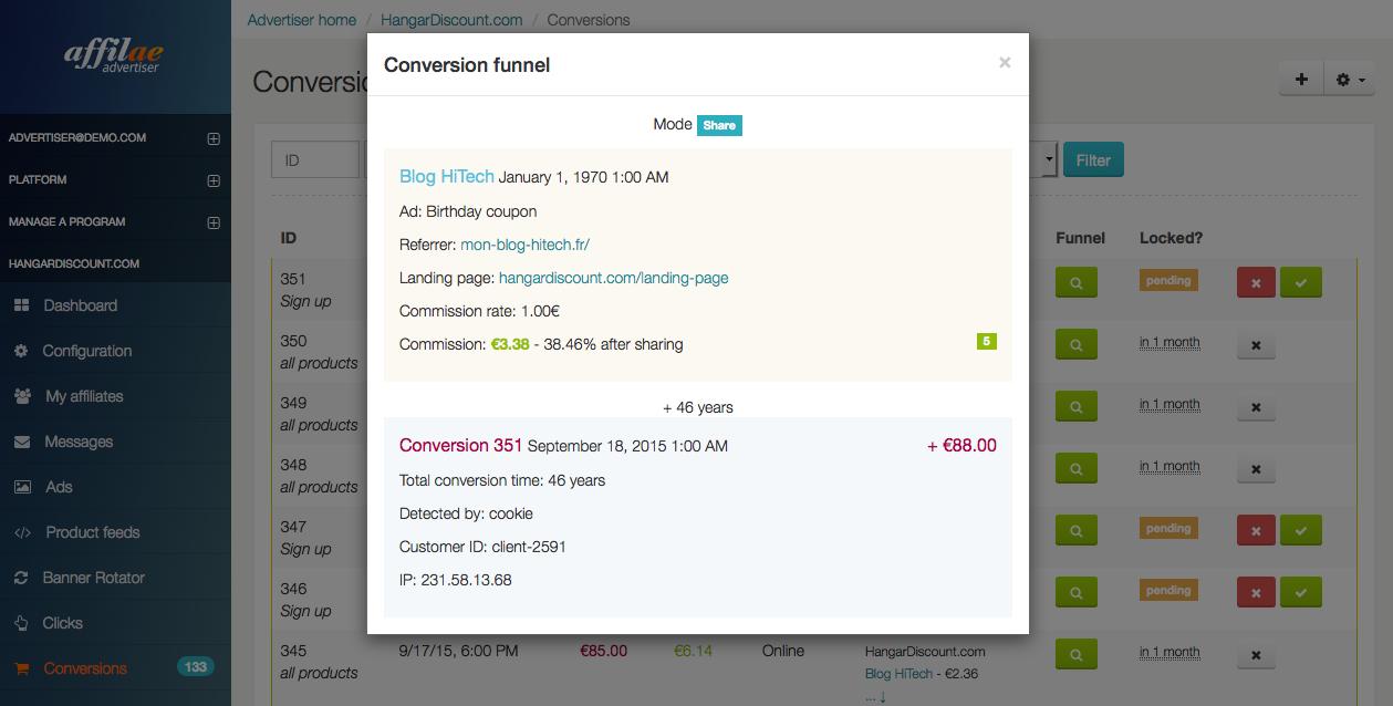Affilae: Liens compatibles SEO, Commissions récurrentes, Secure Sockets Layer (SSL)
