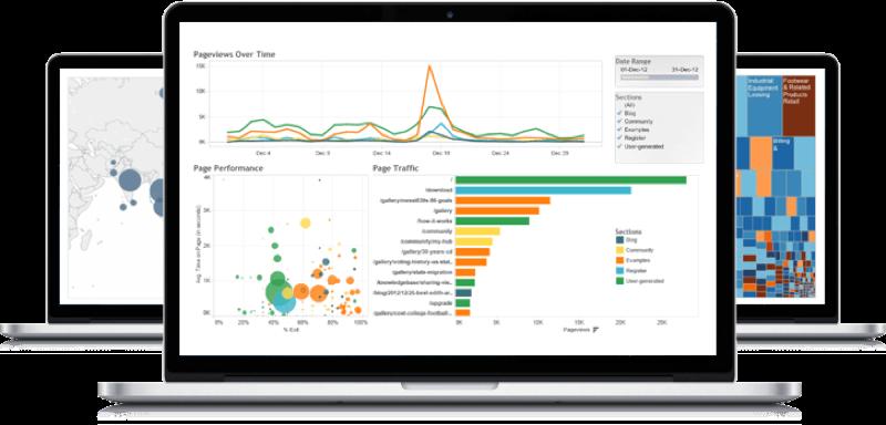 Tableau Software: Croisement de sources de données, Filtres, Tableau de bord interactif